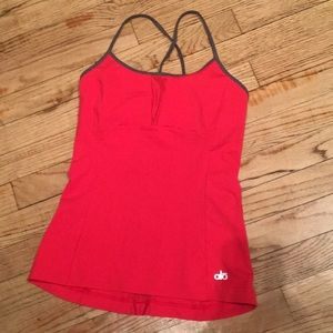 Alo Yoga Red Camisole Tank Top